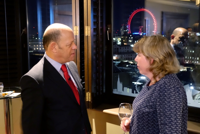 Jeremy Jacobs and guest at a recent event in Central London.