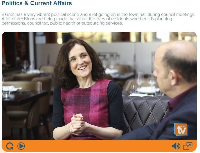 Jeremy Jacobs with Theresa Villiers MP